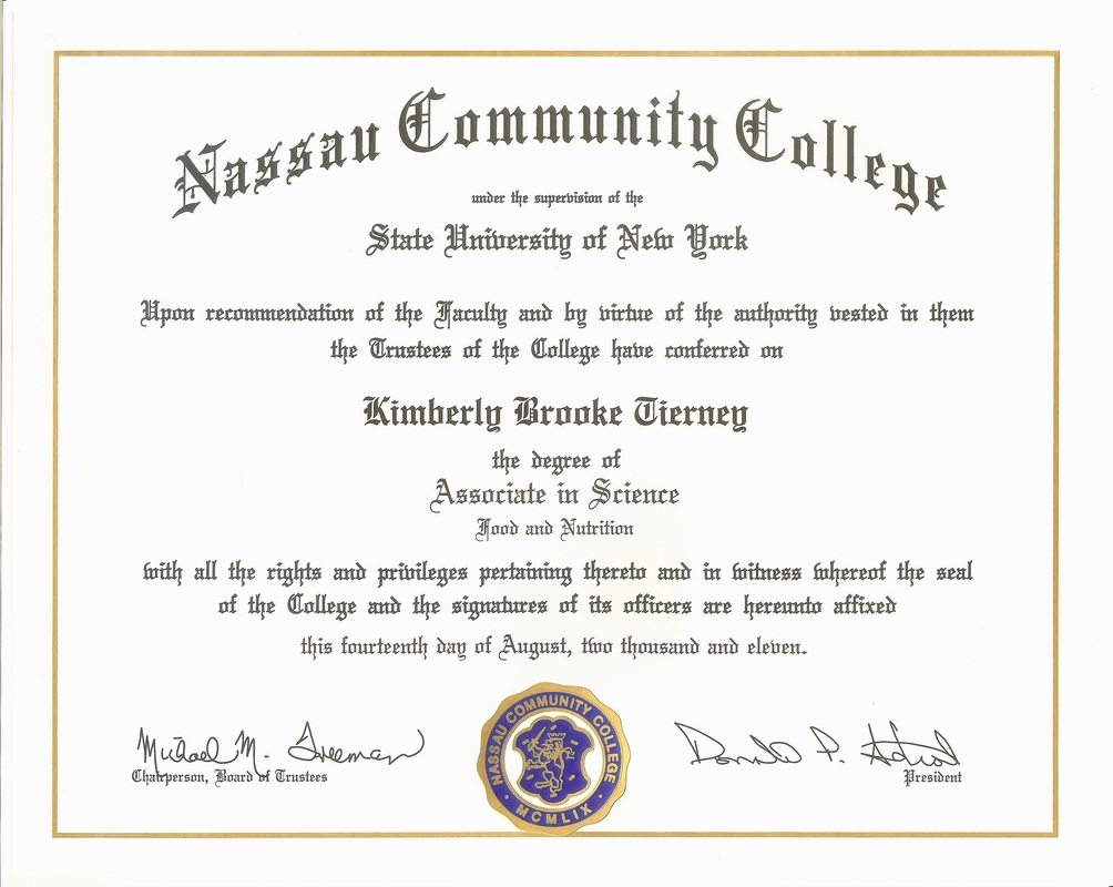 professional memberships certifications kimberly tierney s nassau community college a s diploma